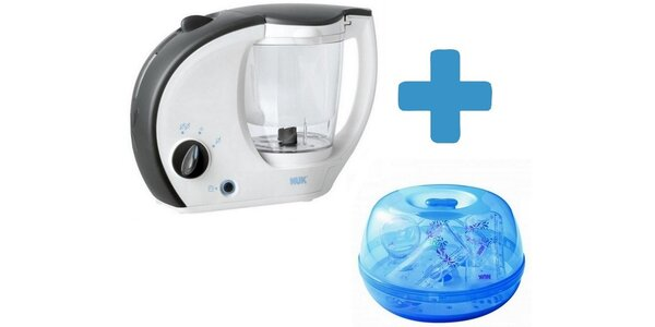 NUK Baby menu kuch.robot+NUK Sterilizátor do mikrovlnky nebalený