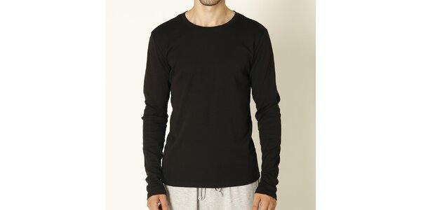 Pánské černé tričko s dlouhým rukávem Chaser