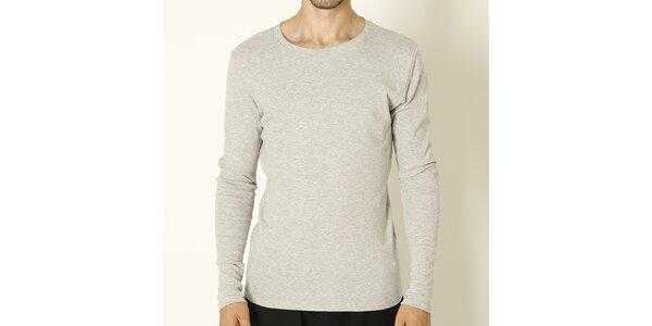 Pánské šedé tričko s dlouhým rukávem Chaser