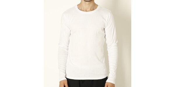 Pánské bílé tričko s dlouhým rukávem Chaser
