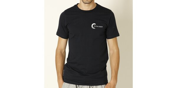 Pánské tmavě modré tričko s bílým nápisem Chaser