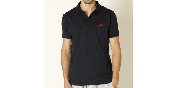 Pánské tmavě modré polo tričko s červeným logem Chaser