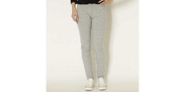 Dámské šedé slim fit kalhoty Chaser