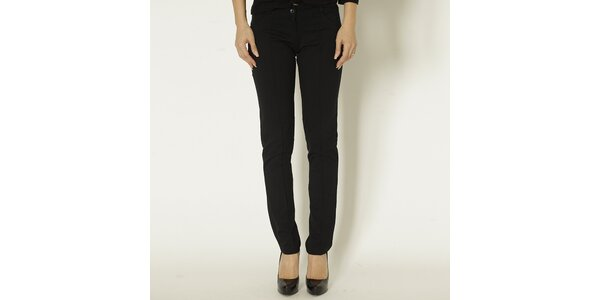 Dámské černé slim fit kalhoty Chaser