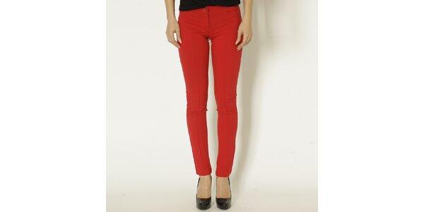 Dámské červené slim fit kalhoty Chaser