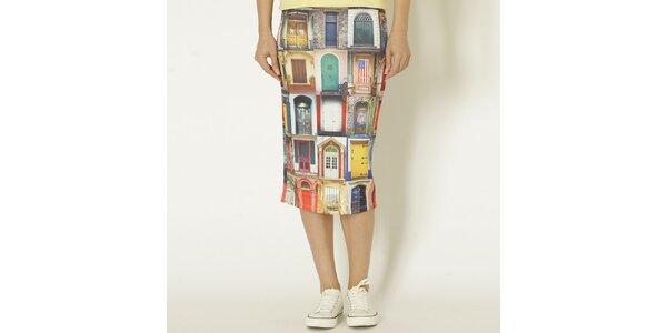Dámská barevná sukně s potiskem dveří Chaser