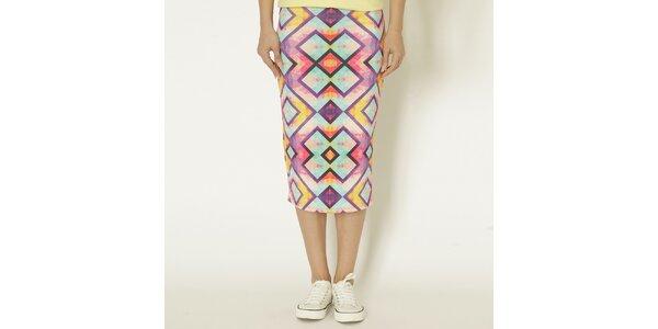 Dámská barevná sukně s geometrickým vzorem Chaser