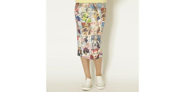 Dámská barevná sukně s Vogue potiskem Chaser