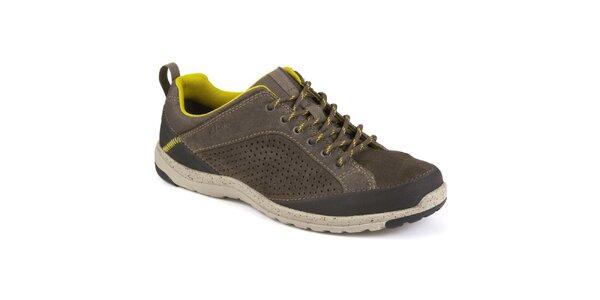 Pánské šedohnědé semišové volnočasové boty s tkaničkami Clarks