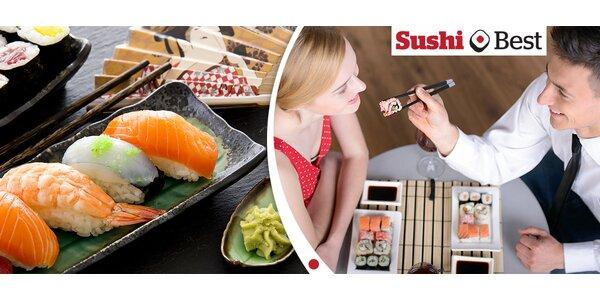28 ks prvotřídního sushi včetně polévky a dezertu
