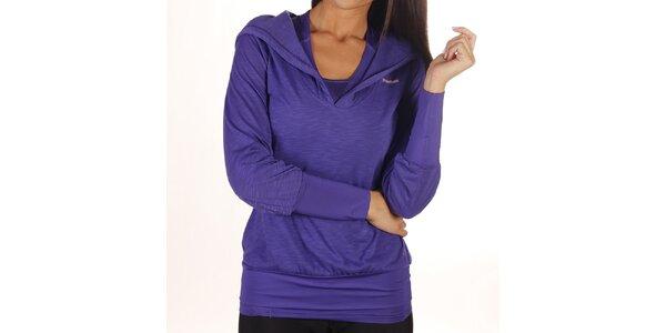 Dámské fialové tričko s kapucí Reebok