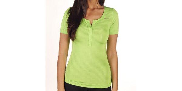 Dámské zelené pruhované tričko Reebok