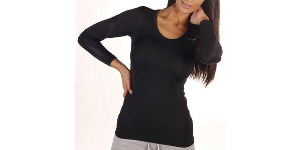 Dámské černé tričko s dlouhým rukávem Reebok