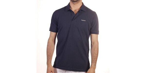 Pánské tmavě modré polo tričko Reebok