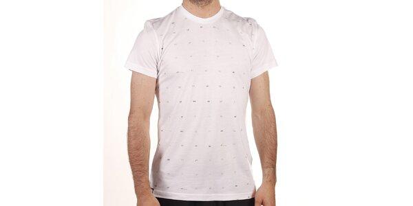 Pánské bílé tričko s šedým potiskem Reebok
