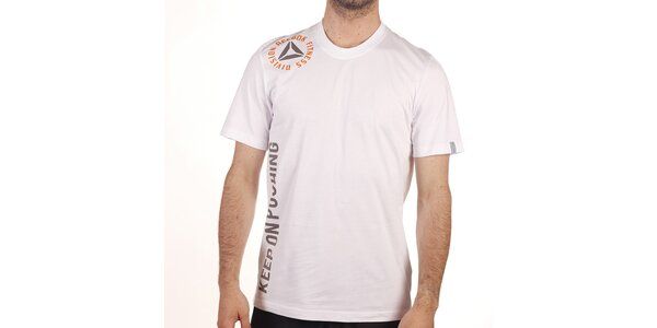 Pánské bílé tričko s nápisy Reebok
