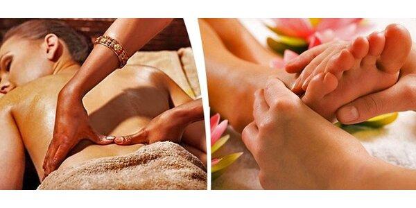 Breussova masáž zad nebo reflexní masáž plosky nohy