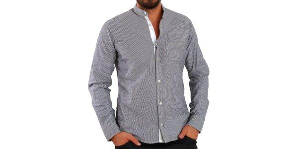 Pánská hnědě proužkovaná košile Premium Company