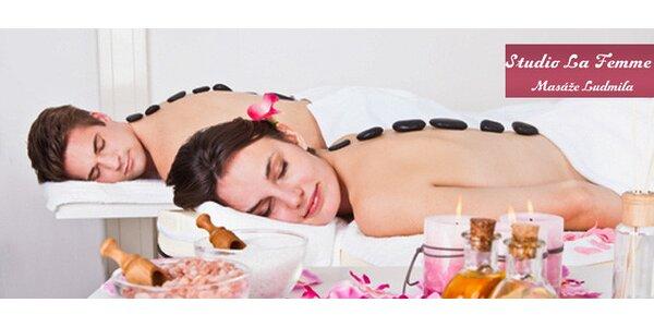 Blahodárná masáž zad lávovými kameny (40 minut)