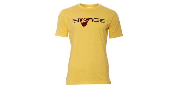 Pánské triko Energie ve žluté barvě