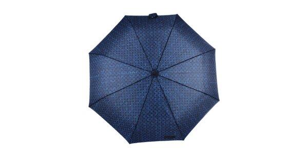 Pánský skládací vystřelovací deštník v modré barvě Ferré Milano