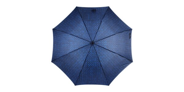 Pánský vystřelovací modrý deštník se vzorem Ferré Milano