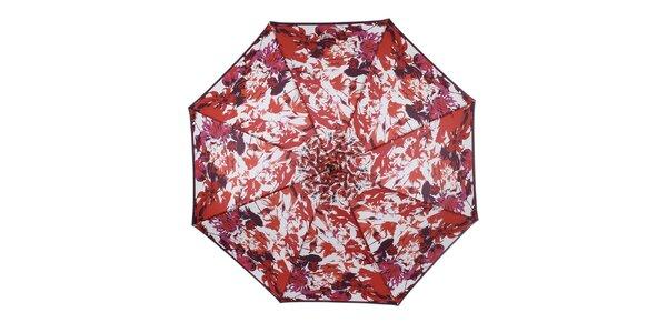 Dámský vystřelovací deštník s barevnými květy Ferré Milano