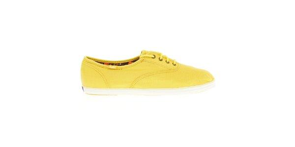 Dámské žluté plátěné tenisky Keds