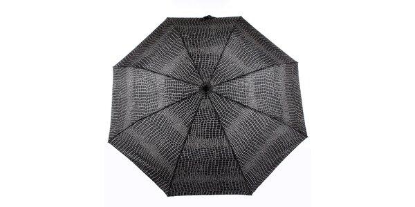 Dámský šedo-černý vystřelovací deštník Ferré Milano