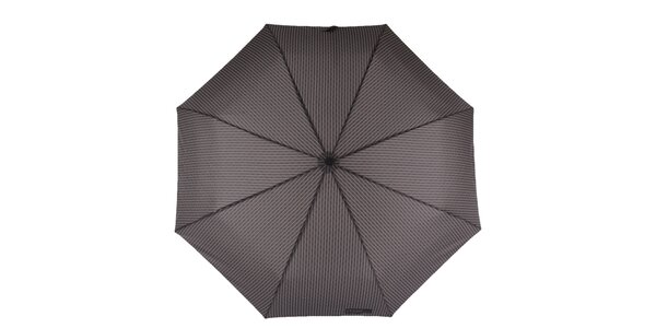 Pánský skládací deštník s šedým vzorem Ferré Milano