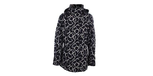 Dámská černo-bílá vzorovaná bunda do deště Happy Rainy Days
