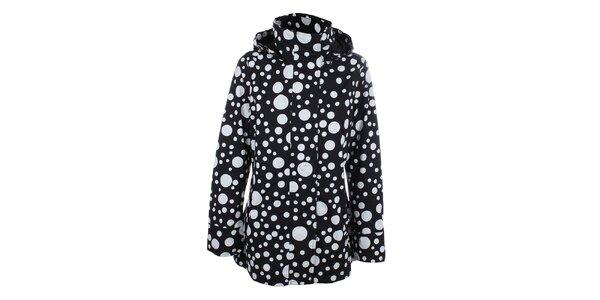 Dámská černá puntíkatá bunda do deště Happy Rainy Days