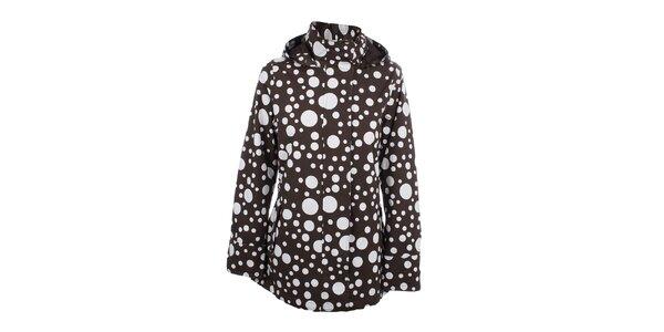 Dámská hnědá puntíkatá bunda do deště Happy Rainy Days