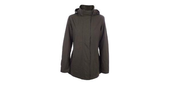 Dámská hnědá jednoduchá bunda do deště Happy Rainy Days