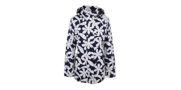 Dámská modrá bunda s květy do deště Happy Rainy Days