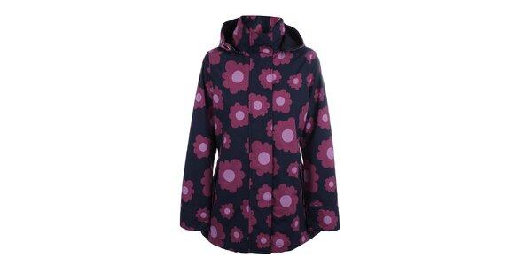 Dámská modro-růžová bunda do deště Happy Rainy Days
