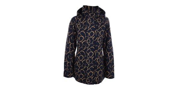 Dámská modro-béžová bunda do deště Happy Rainy Days
