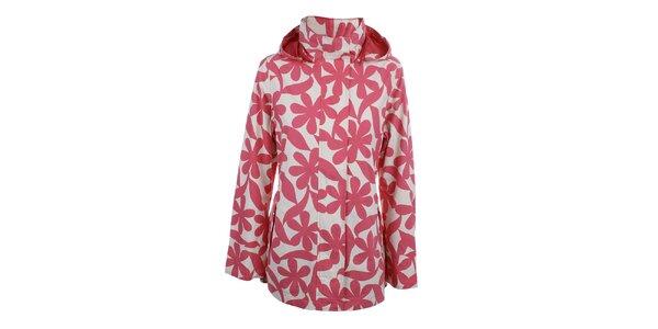 Dámská růžová květinová bunda do deště Happy Rainy Days