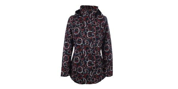 Dámská černá vzorovaná bunda do deště Happy Rainy Days