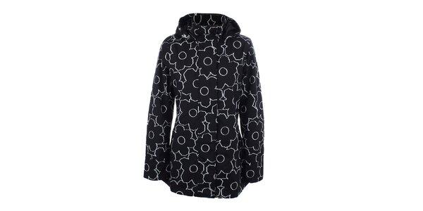 Dámská černo-bílá bunda do deště Happy Rainy Days