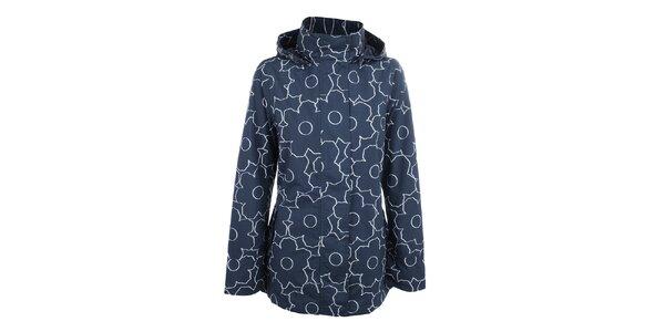 Dámská modrá květinová bunda do deště Happy Rainy Days