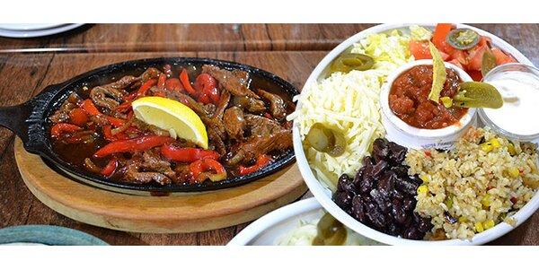 Bohatá porce fajitas - kuřecí nebo hovězí