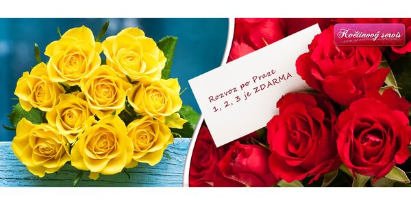 Kytice růží s ozdobami, vzkazem a rozvozem v ceně