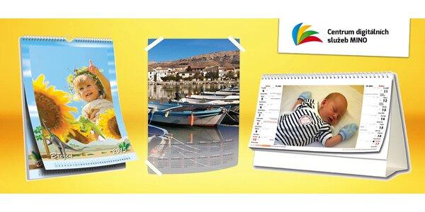 Stolní či nástěnné kalendáře z vlastních fotek