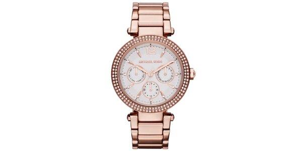 Dámské hodinky z pozlacené nerezové oceli Michael Kors