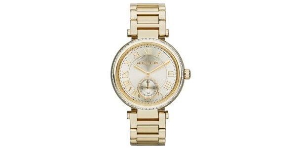 Dámské pozlacené hodinky s římskými číslicemi Michael Kors