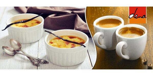 Dvě kávy a dva francouzské dezerty