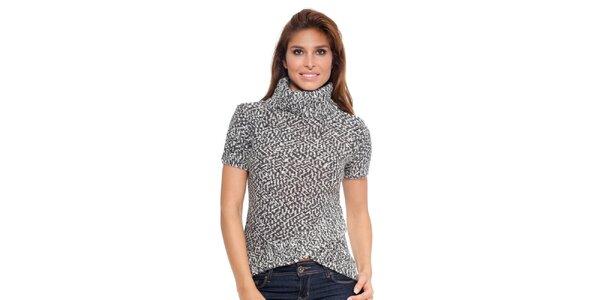 Dámský vzorovaný svetr s krátkým rukávem Janis