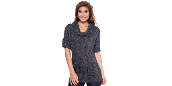 Dámský antracitový svetr s krátkým rukávem Janis