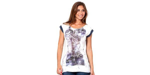 Dámské dvoubarevné tričko s potiskem Janis
